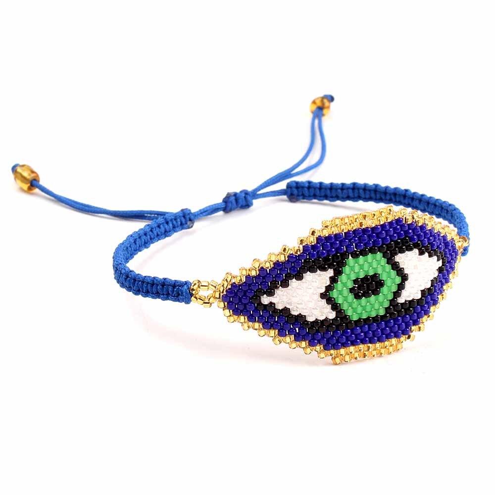 Go2boho Evil Eye Bracelet MIYUKI Tassel Bracelets  Delica Seed Beads For Girl Women Gift Jewelry Handmade Woven Dropshipping bead