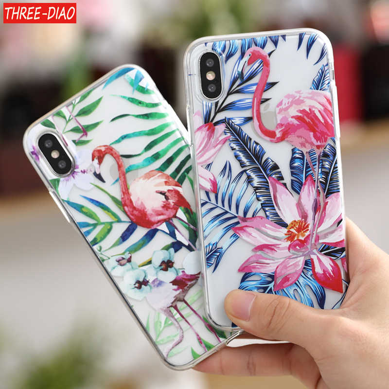 THREE-DIAO Soft for Coque iPhone 5 5S SE 6 6S 7 8 Plus Case Cover for Capa iPhone X CaseFund iPhone XR Case For iPhone XS Max