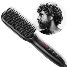 EU/US Plug Negative Ion Ceramics Hair Brush Fast Straightener Comb Electric