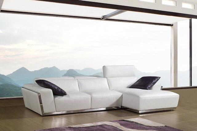 US $854.05 5% di SCONTO Mucca genuino divano in pelle set divano del  soggiorno sezionale/angolo divano mobili soggiorno couch divani libero a  porta in ...