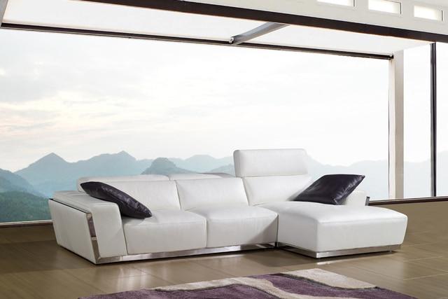 cow genuine leather sofa set living room sofa sectional/corner sofa ...
