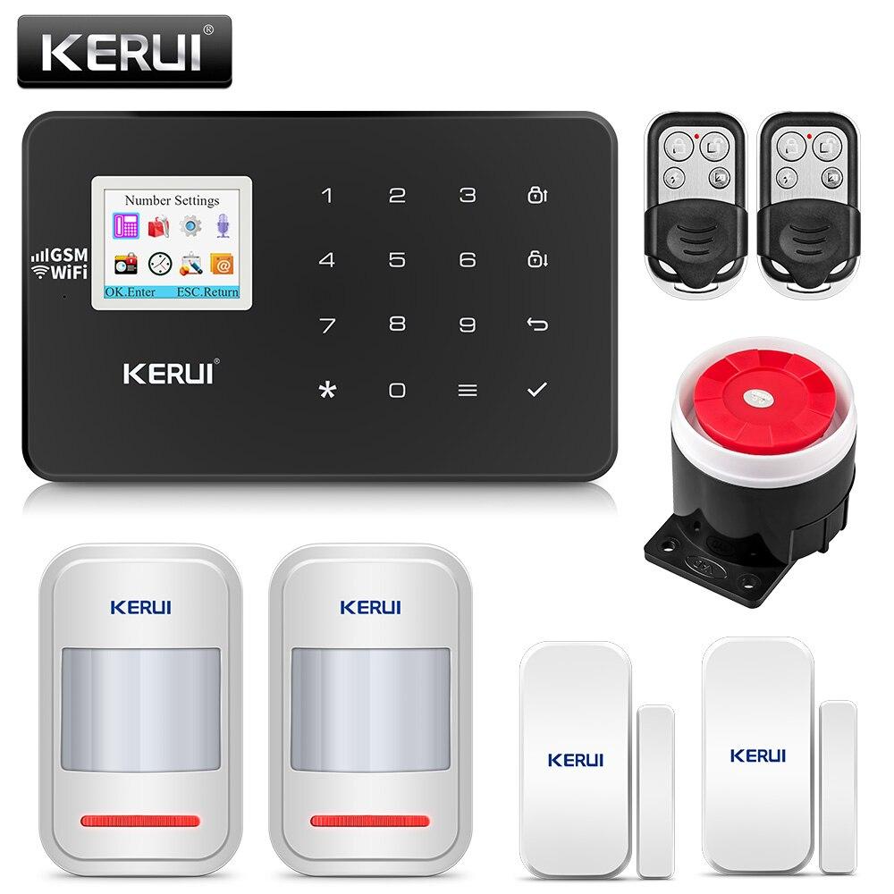 KERUI W18 alarme de maison sans fil Wifi GSM IOS/Android APP télécommande mentale LCD GSM SMS système d'alarme de sécurité antivol sécurité