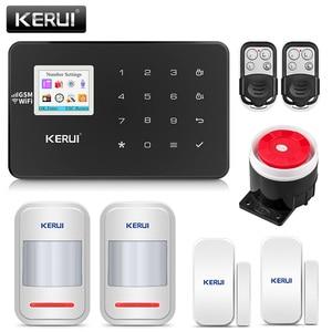 Image 1 - KERUI W18 אזעקת Wifi GSM IOS/אנדרואיד APP נפש שלט רחוק LCD GSM SMS פורץ אבטחת אזעקה מערכת אבטחה