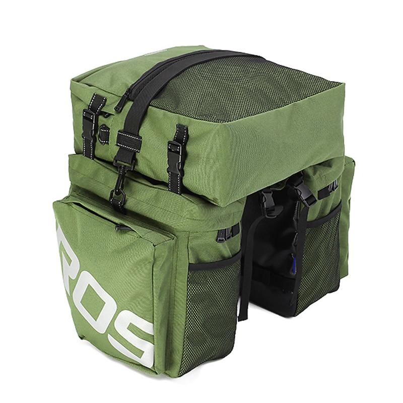 Roswheel 3 in 1 Multifunction Road MTB Mountain Bike Bag Bicycle Pannier Rear Seat Trunk Bag Army Green