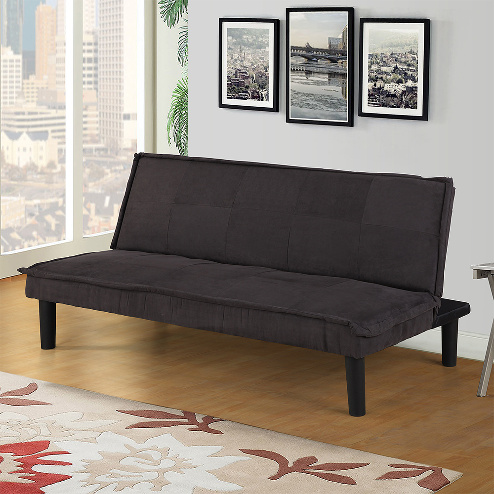 Microfiber Futon Convertible Reclining Folding Lounge Couch