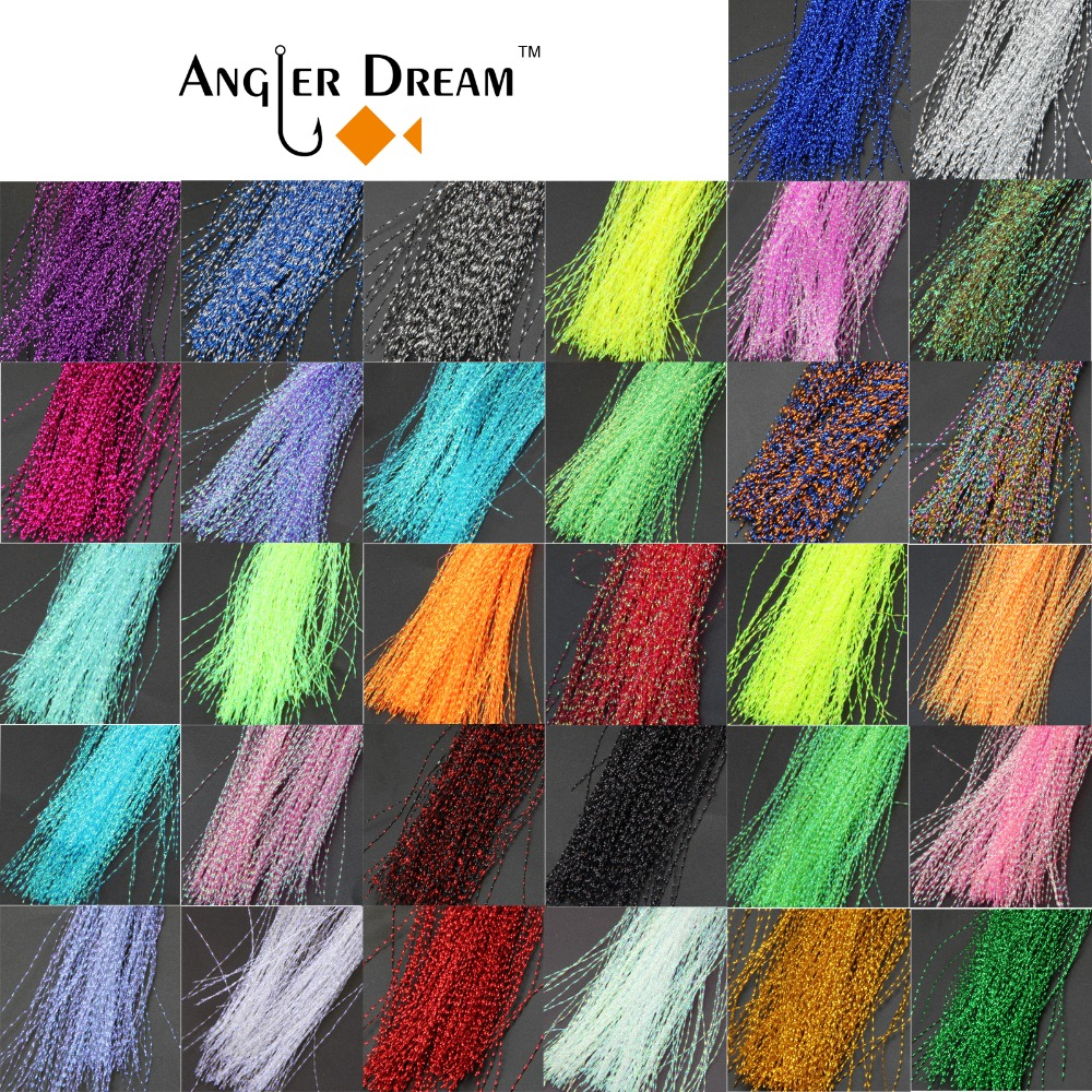 32 bags Fly Tying Material Crystal Flash Holographic Fishing Lure Tying Making 32 Colors 150pcs / bag Free shipping