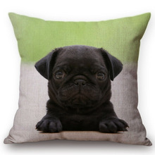 Cute Pug Pet Dog German Hound Print Car Decorative Throw Pillows Pillow cases Bed Cushion Covers Sofa Chair Wedding Decoration