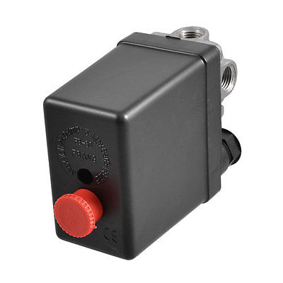 4-port Air Compressor Pressure Switch Control Valve 115 PSI 8 Bar heavy duty air compressor pressure control switch valve 90 120psi 12 bar 20a ac220v 4 port 12 5 x 8 x 5cm promotion price