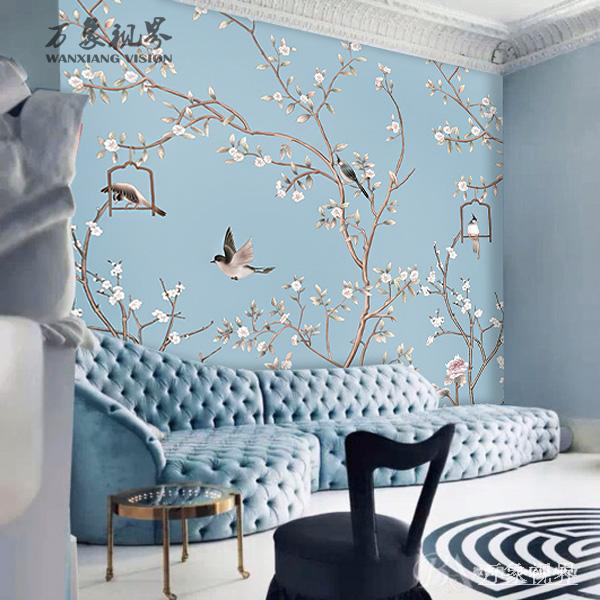 Custom photo wallpaper living room sofa bedroom TV background wall mural wallpaper classical fresh flowers wallpaper free shipping chinese ink classical retro wallpaper mural living room tv room wallpaper