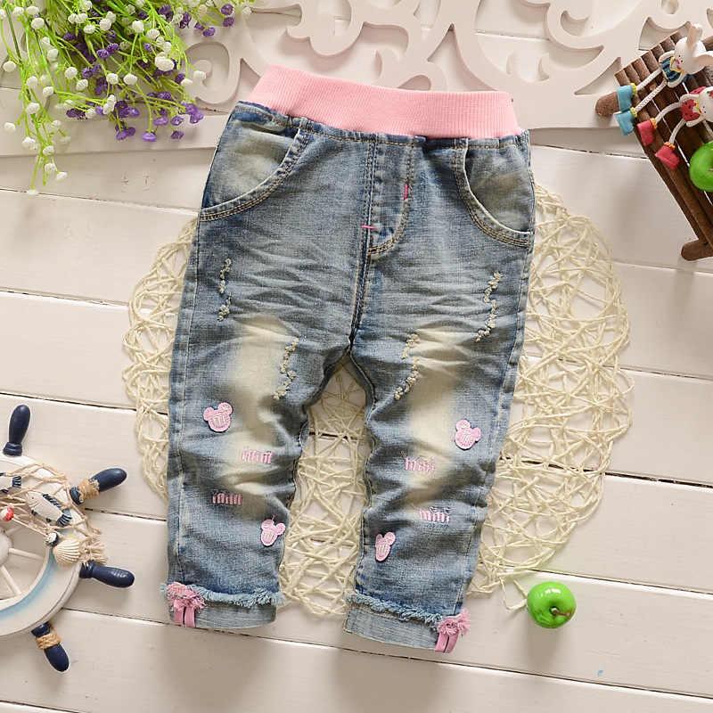 Pantalones Vaqueros Para Ninas Pequenas Jeans Rasgados De Dibujos Animados A La Moda Informales De 1 A 3 Anos 2020 Pants Fashion Baby Pants Girlbaby Pants Aliexpress
