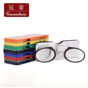 Image 5 - Guanhao Magnetische Leesbril Met Case Neus Clip Ronde Optische Frame Dioptrie Recept Brillen Mannen Vrouwen Draagbare Bril
