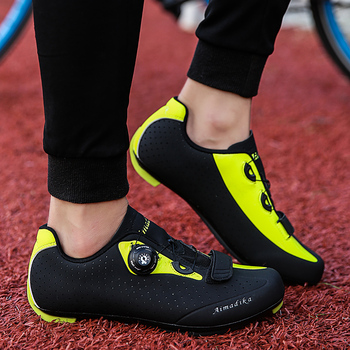 Road Cycling Shoes Men Racing Road Bike Shoes Self-locking Atop Bicycle Speakers Athletic Ultralight Professional Cycling Shoes