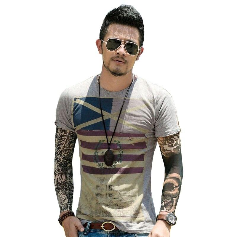 Classical Leisure Print Men's   T  -  Shirt   Brand Clothing   t  -  shirts   Fashion   T     Shirt   Short Sleeve masculina Tops Tees tshirt TX82 P