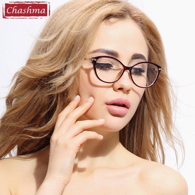 Chashma módní žena brýle TR 90 brýle Cat oči stylové optické brýle rám pro ženy