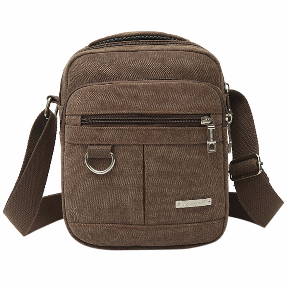 Männer Freizeit Reisetaschen Mode Leinwand Männlichen Weichen Einstellbar Crossbody Umhängetasche Student Military Zipper Messenger Bag