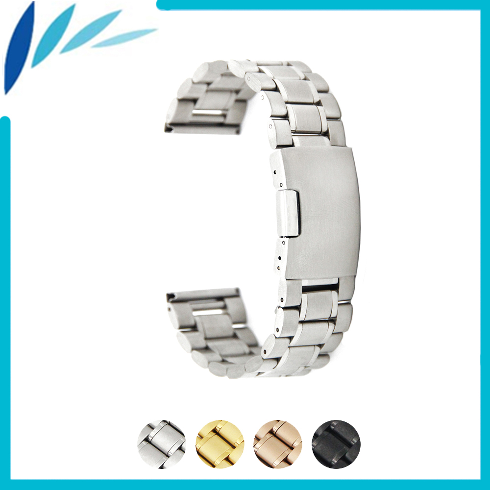 Stainless Steel Watch Band 16mm 18mm 19mm 20mm 21mm 22mm 26mm for Seiko Watchband Strap Wrist Loop Belt Bracelet Black Gold genuine leather watch band 14mm 16mm 18mm 19mm 20mm 21mm 22mm for omega watchband strap wrist loop belt bracelet black brown