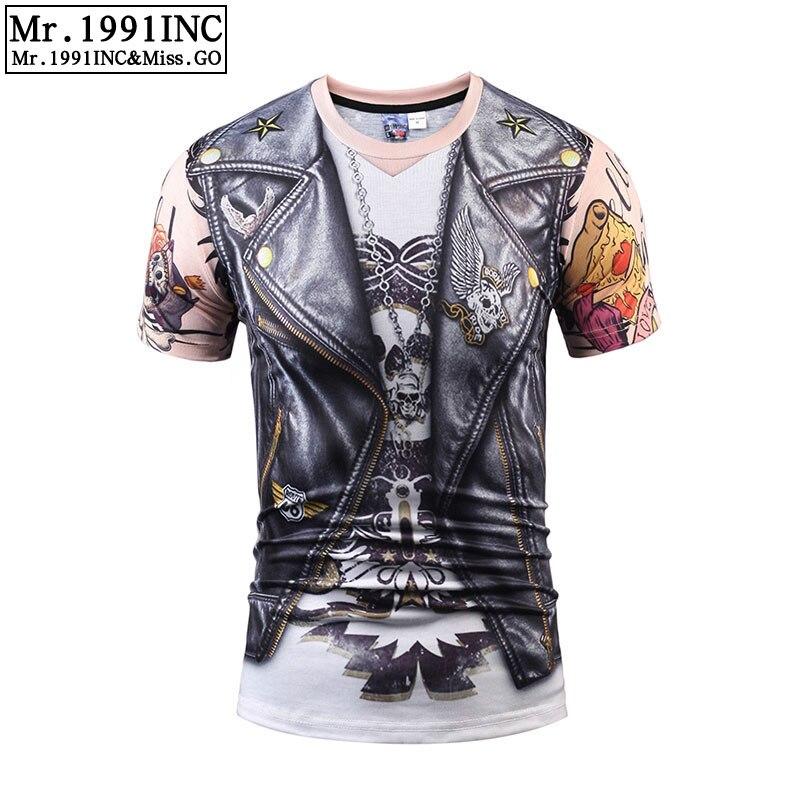 Mr.1991INC verano moda Punk cráneos de 3D camiseta Rock/las mujeres elásticos Slim camisetas Tops camisas