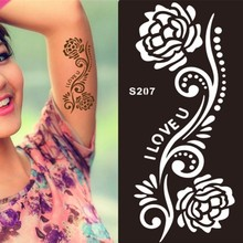1Pcs India-Style Professional-Level Hand-Painted Henna Tattoo Stencil Paste Templates Stencils For Painting