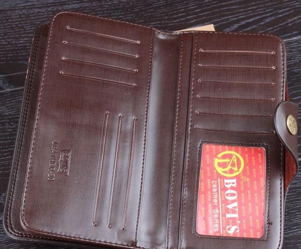 бесплатная доставка, 2015 мода мужчины натуральная кожа коровы долго бумажник карманы карточка RFID-считыватель клатч центр двойные кошелек, оптовая продажа