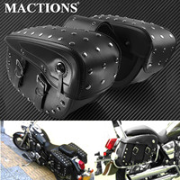Tool Tail PU Leather Motor Saddle Side Bag Big Size For Harley Prince Cruise Motorbike Luggage Pouch Motorcycle Saddlebag