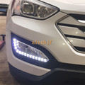 Июля Король СВЕТОДИОДНЫЕ Фары Дневного света DRL, противотуманные Фары в Сборе для Hyundai 2013 Все новые Santa Fe (ЕС)/2012 IX45, 1:1