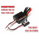 Hobbywing EZRUN 18A V2 2-3S Lipo Speed Controller Brushless ESC BEC Output 6V/1.5A for 1/16 1/18 RC Car hobbywing ezrun max8 v3 t trx plug waterproof 150a esc brushless esc 4274 2200kv motor led program card for 1 8 rc car crawler