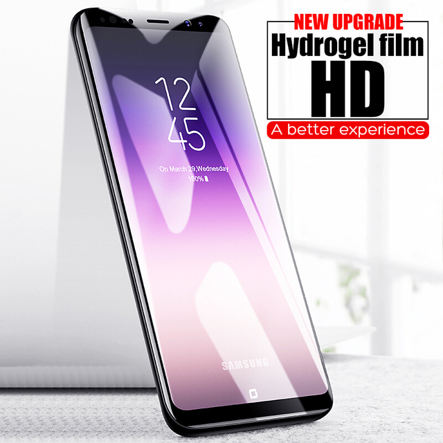 6D Curved Screen Protector For Samsung Galaxy S9 S9 Plus S8 S8 Plus Note 8 9 S6 S7 Edge Soft Protective Film Not Tempered Glass