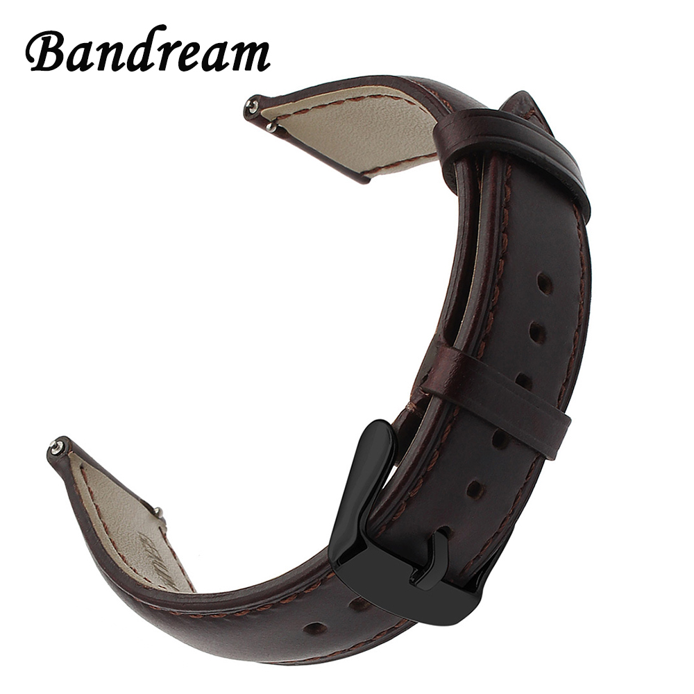Genuine Leather Watchband 20mm For Samsung Gear S2 Classic R732 R735 Withings Steel HR 40mm Watch Band Quick Release Strap Belt