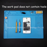 S140 35x25cm Heat Insulation Silicone Pad Desk Mat Maintenance Platform With Magnetic Section For BGA Soldering