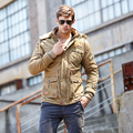 New listing 2016 Winter Men Down Parkas casual Jackets Man Hooded Thick Warm Outwear Overcoat Wadded Coat  brand clothing