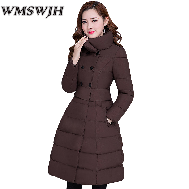 Hot sale 2017 New Winter Women Cotton Coat Fashion Leisure Thick Slim Female Wadded Jacket High quality Warm Long Outerwear newear 2017 new fashion coat women winter jacket coat womens medium long cotton warm coat outwear high quality hot sale