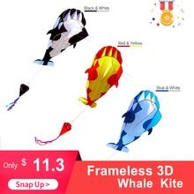 kites High Quality 3D Kite Huge Frameless Soft Big Whale Flying Kite Sports Beach Kites Easy to Fly Outdoor Sports for Kids Adu цены онлайн