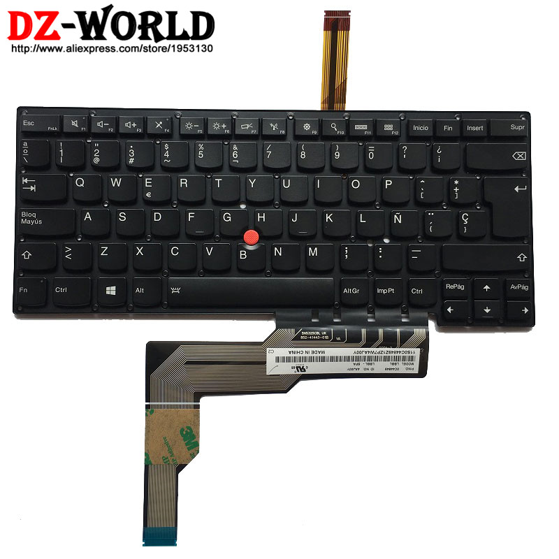 New Original Spanish Backlit Keyboard for IBM Lenovo Thinkpad S3 S431  S3 S440 Backlight Teclado ES Spain 0C44849 new keyboard for lenovo thinkpad t410 t420 x220 w510 w520 t510 t520 t400s x220t x220i qwerty latin spanish espanol hispanic