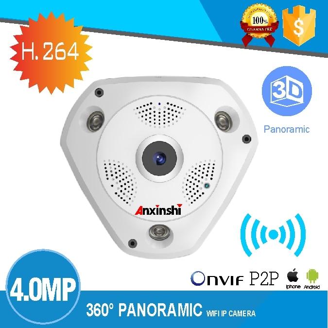 4MP HD рыбий глаз Беспроводная ip камера wifi 360 градусов Мини WiFi камера сеть Домашняя безопасность панорамный фотоаппарат ИК камера наблюдения