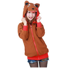 Free Shipping Soft cotton warm street girl woman cool Hoodies coat, men's party hip hop big wolf cosplay Sweatshirt tracksuit