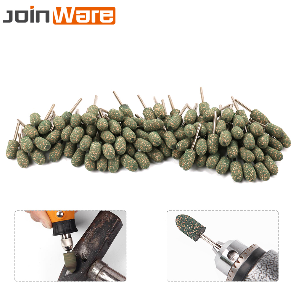 цена на 100Pcs 3mm Shank Bullet Special Rubber Mounted Point Grinding Polishing Head For Mould Finish Polish Dremel Grinder Rotary Tools