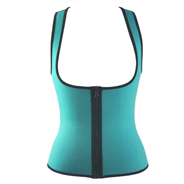 334cb887780 Women vest Neoprene corset korsett corpete zipper workout sauna suit waist  cincher trainer hot shaper body S-3XL plus size