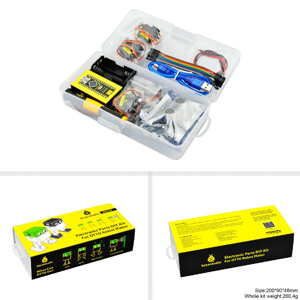 Image 5 - Keyestudio DIY Project Starter Kit For Arduino OTTO DIY Robot (No 3D Body Printer Parts)-in Integrated Circuits from Electronic Components & Supplies
