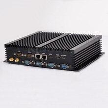 Новый безвентиляторный Дизайн мини промышленных ПК Barebone 16 ГБ Оперативная память настольный компьютер Windows 10 Core i5 4200U Dual LAN HTPC 6 com RS232