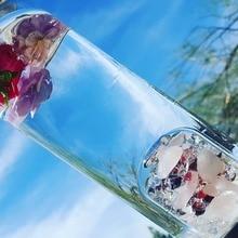 Новый продукт с украшением в виде кристаллов кварца бутылка драгоценный камень Стекло бутылки с водой для гидротерапии здоровья чашки драгоценный камень бутылка для воды бутылка Energy для подарков