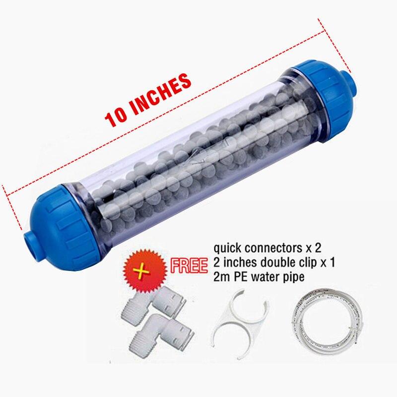 10 дюймов щелочной воды фильтр многоразового Inline Щелочной фильтр-картридж для аквариума RO Системы/очиститель воды с фитингами