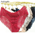 New Fashion 2016 Summer Women's Panties Transparent Underwear Women Intimates Lace Soft Briefs