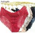 Nueva moda 2016 mujeres del verano bragas briefs underwear mujeres íntimos encaje transparente suave