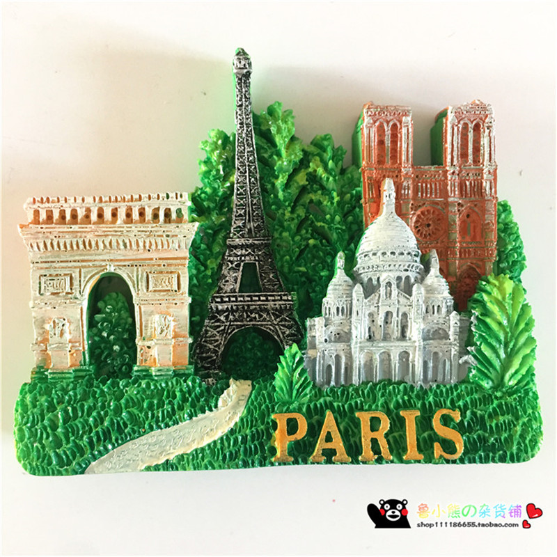 New Hot Travel Souvenir Paris 3D High-end Fridge Magnets Travel Souvenirs Gift Refrigerator Magnetic Sticker