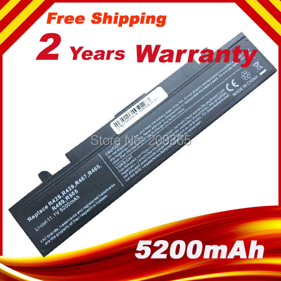 Laptop battery For R540 aa pb9nc6b R428 R429 R468 R730 R519 R430 R438 R458 R517 R519 R520 R620 R718 R720