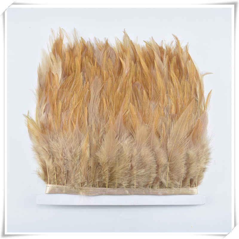 아름 다운 1 야드 멀티 Color10-15cm 꿩 깃털 트림 바느질 의류 웨딩 장식 공예에 대 한 diy 치킨 깃털