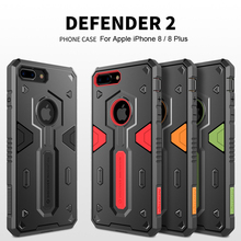For iPhone 8 Case Nillkin Defender 2 Luxury TPU+PC Armor Anti-knock Phone Back Cover For iPhone 8 Plus Case Capa For iPhone8 nillkin back case for iphone 6 plus