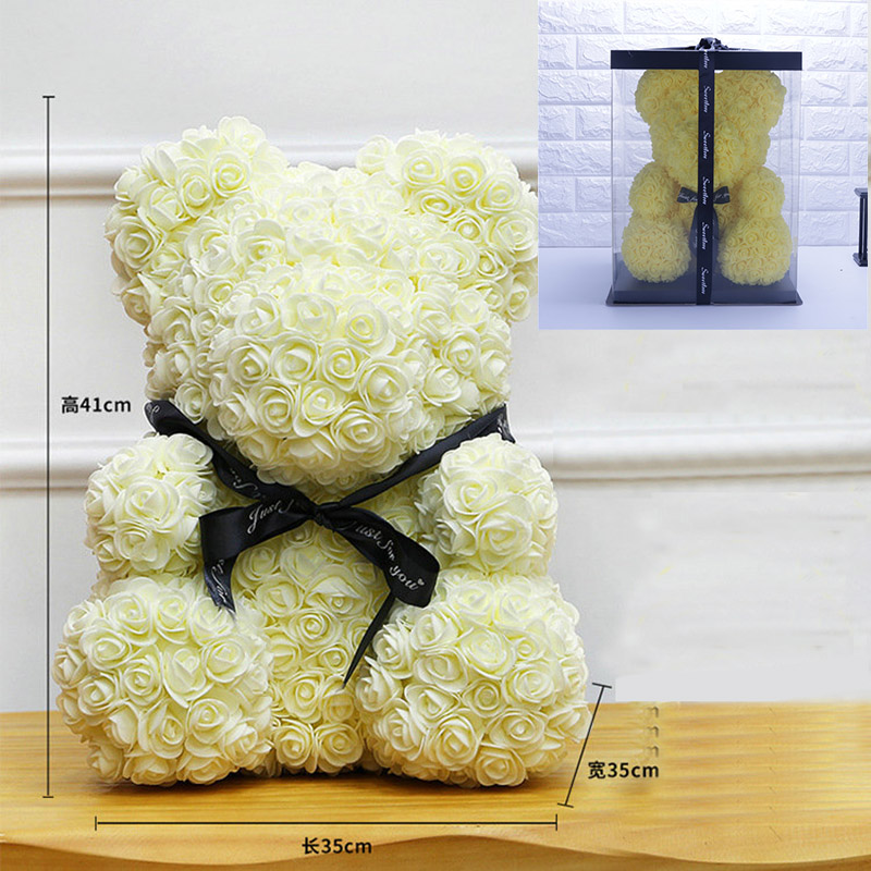 Bath & Shower Ingenious 12pcs Romantic Rose Soap Flower Gift Box With Plush Animal Toys Bear Doll #40-27 For Fast Shipping