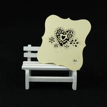 Hollow snowflake Love Heart Place Cards