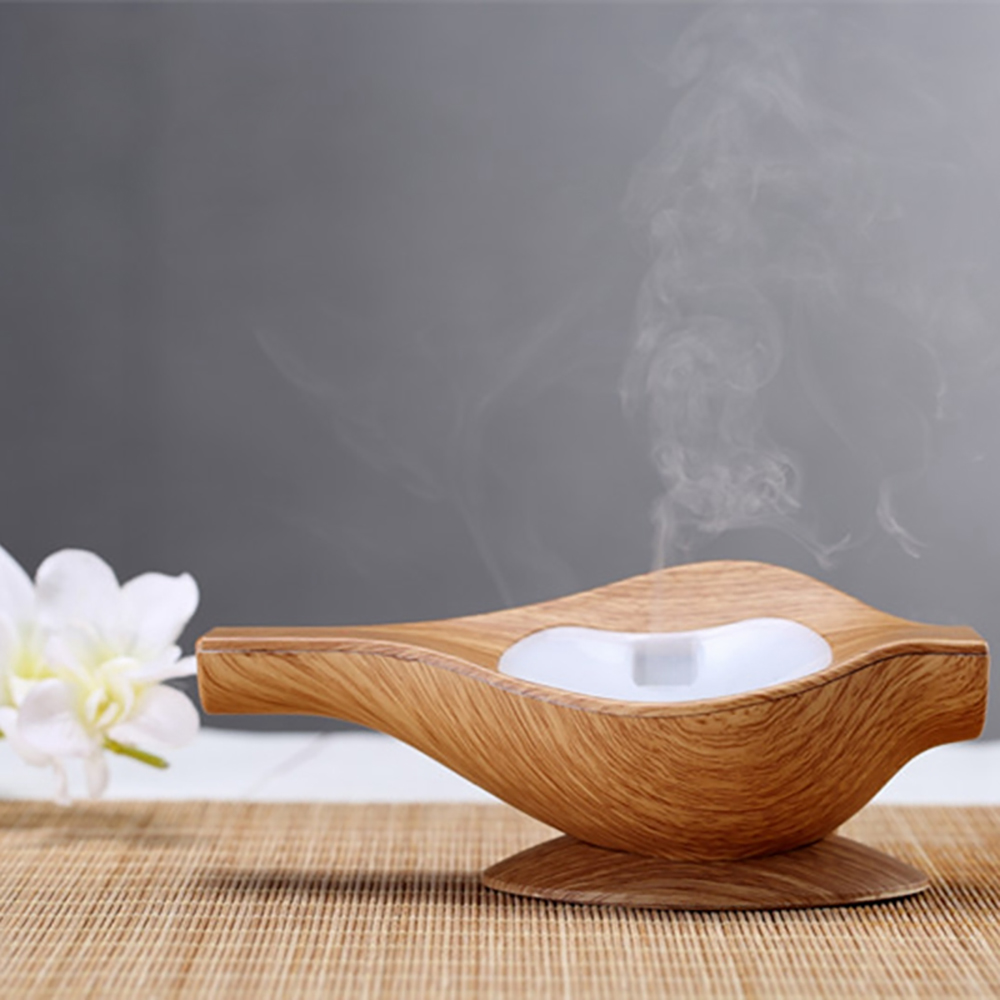 Mini Wooden Conch Shape Aromatherapy Air Humidifier USB Portable Essential Oil Diffuser Ultrasonic Home Office Car Mist Maker